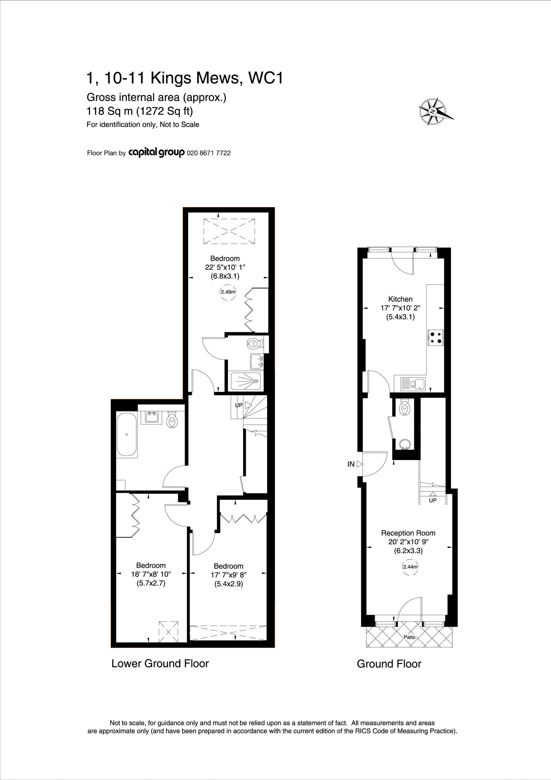 Kings Mews Apartment 1 Plan
