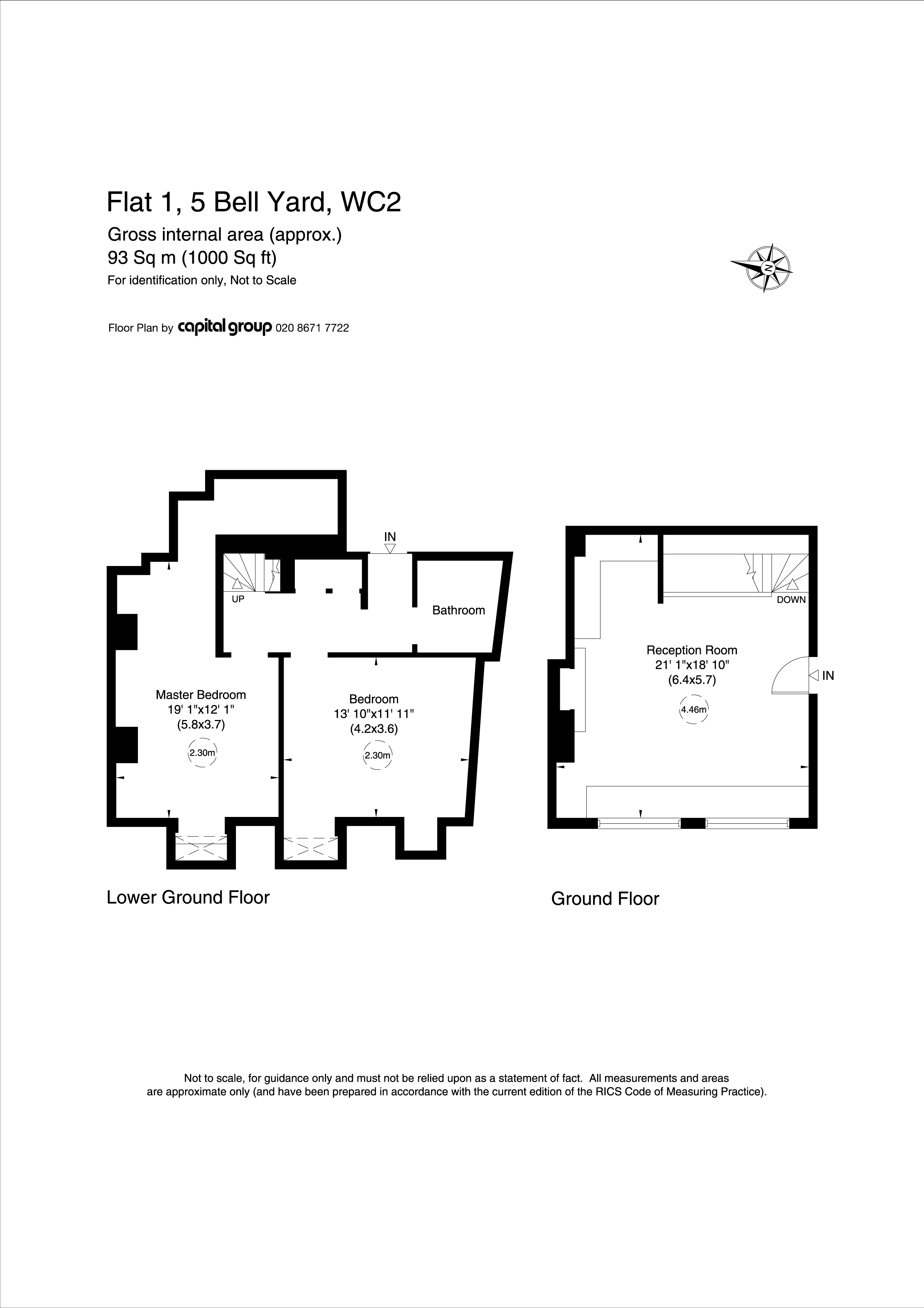 Flat 1, 5 Bell Yard Plan